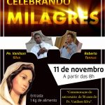 Celebrando Milagres, dia 11 de Novembro. Participe!